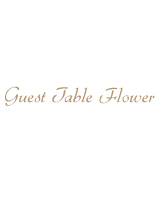 Guest Table Flower